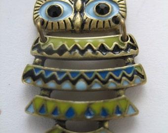 Vintage Ethnic Wise Owl Pendant