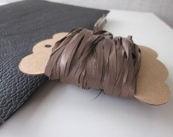 10m Chocolate Brown Raffia Effect Ribbon