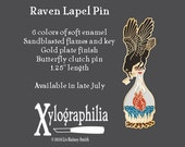 Pre-order for Raven enameled artist pin Ends July 24th