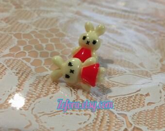 Tiny Bunny Stud Earrings