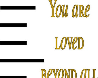 Growth Chart DECAL ONLY to apply to your own board or wall with quote