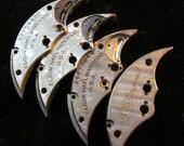 Destash Steampunk Watch Clock Parts Movements Half Moon Shaped Plates  Art Grab Bag RD 29