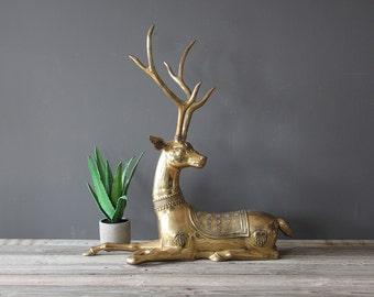 GIANT Large Brass Deer
