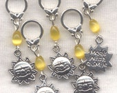 Sunshine Stitch Markers Made With A Smile You Are My Sunshine Set of 5/SM251