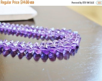 Clearance SALE Purple Amethyst Gemstone Faceted Lantern Twist Briolette 7.5mm 12 beads