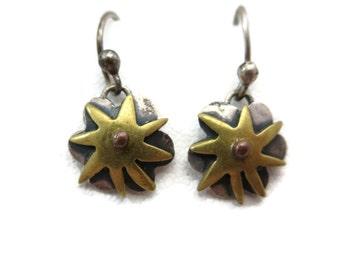 Sterling Silver Boho Earrings - Pierced Hooks