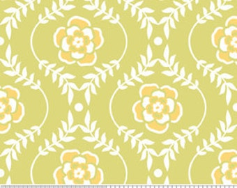 Decadence by Riley Blake, Damask in Green - 1 Yard - Reduced