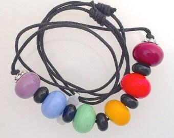 Summer Sale Rainbow Lamp Work Necklace No.1