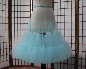Petticoat Aqua Island Paradise Blue Tulle -- Custom Order