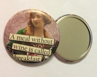 Pocket Mirrors - SASSY Wine Sayings