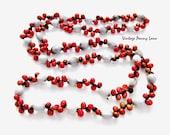 Vintage Handmade Natural Bead Necklace / Nut Seed Bead