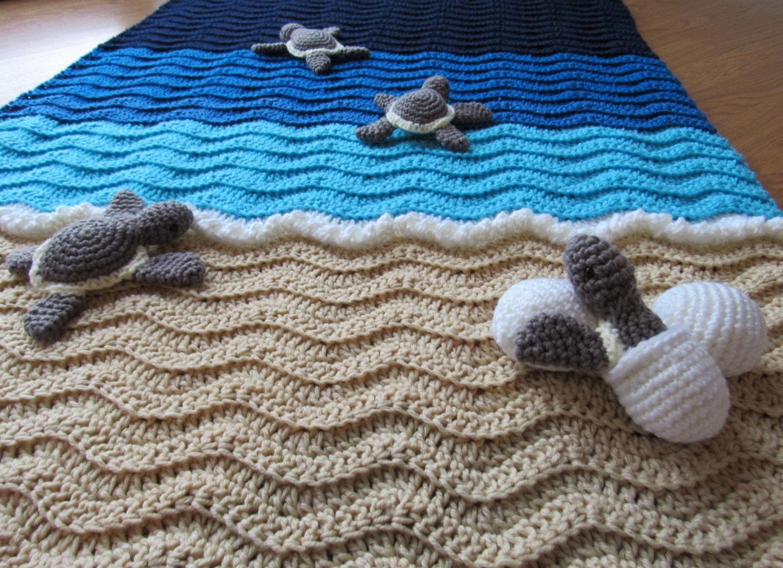 Crochet Pattern Sea Turtle Blanket Squareone For