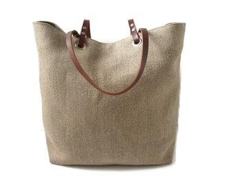 Jute Beach Bag, Beach Tote, Woven Tote Bag, Summer Tote Bag, Casual Tote Bag, Plain Tote Bag, Neutral Tote, Natural Tote Bag