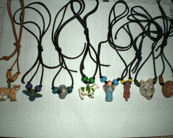 Totem Necklace - Animal Jewelry - Spirit Guide Necklace - Rear View Mirror Charm