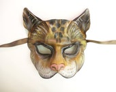 Cat Leather Mask tabby cat house cat