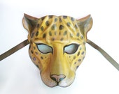 LEOPARD Leather Mask cat wildcat spotted cat