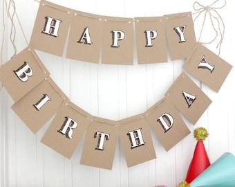 Happy Birthday Bunting. Bunting. Happy Birthday Banner. Happy Birthday Garland. Indoor Bunting. Birthday Party Decorations. Happy Birthday.