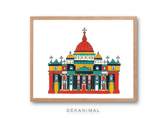 Saint Peter's Basilica art Print - Church art print, Home decor, Wall art, Wall Decor