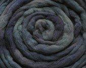 200g Acid Dyed Oatmeal Merino D'Arles Wool Top -  Blue-John