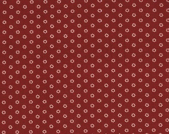 RJR Fabrics Land Of Joy 1910 1 Red With Cream Flowers By The Yard