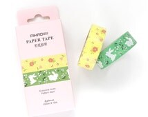 Paper Tape Set - 2 Rolls - 15mm x 10 Metres - Floral Washi Tape - Washi Tape Pack - Washi Tape Set - Washi Tape Australia - Cute Paper Tape