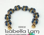 VENOS Swarovski RIVOLI  and Crescent Bracelet tutorial Pdf for personal use only