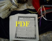 Runic Divinvation PDF -- Book of Shadows -- BOS page -- reading the runes