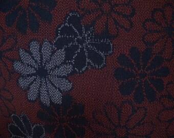 Vintage kimono S106, silk, komon, hitoe, red