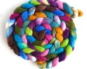 Polwarth/Silk Roving - Handpainted Spinning or Felting Fiber, Impertinent