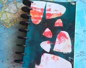 "Watercolor Journal ""Sitsi""- 6x9 Disc Bound Journal with 140 lb cold press watercolor paper"