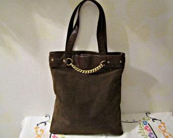 Large Tote, Non Leather Tote, Shoulder Bag, Business Handbag, Computer Bag