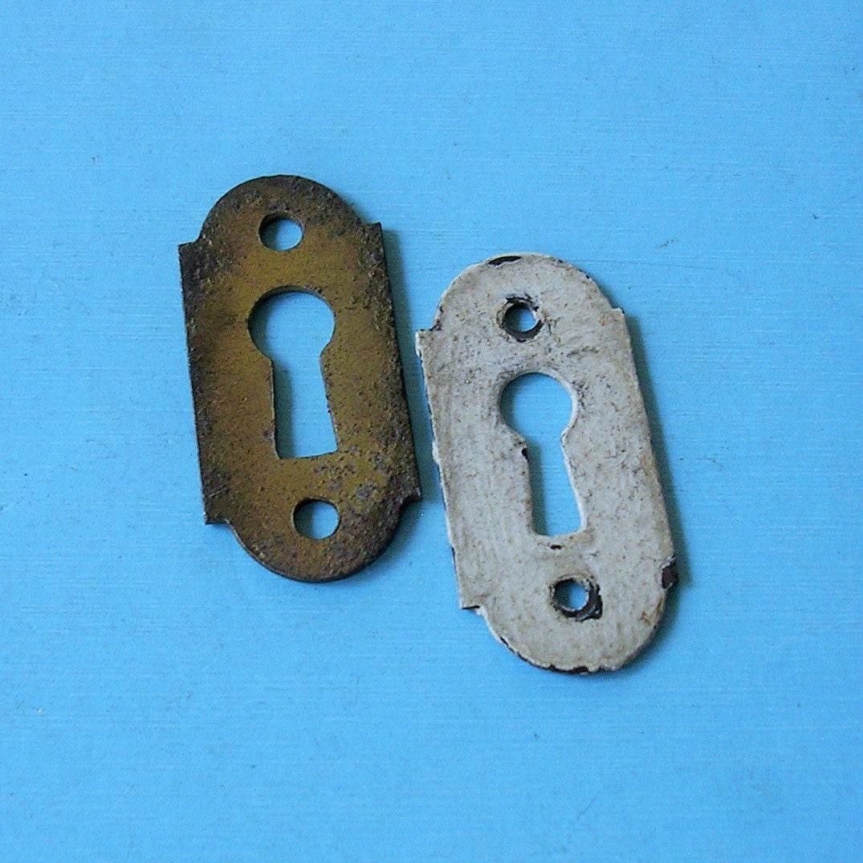 Antique vintage keyhole key hole cover covers by timepassages - Antique peephole ...