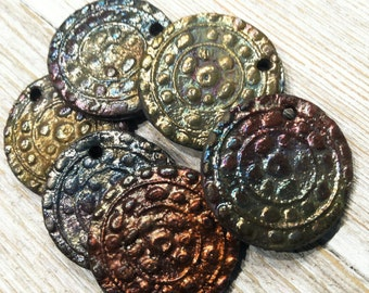 177. Crazy for Raku SIx Mayan  Raku Disks