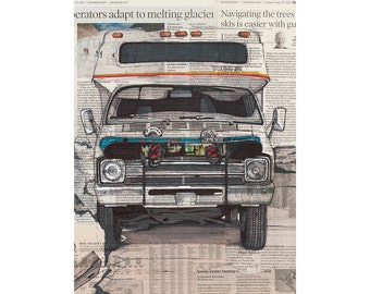Campervan No.1 art print