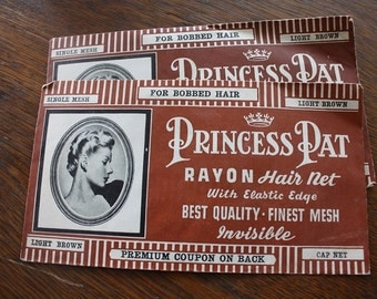 Set of Two Princess Pat Rayon Hair Nets