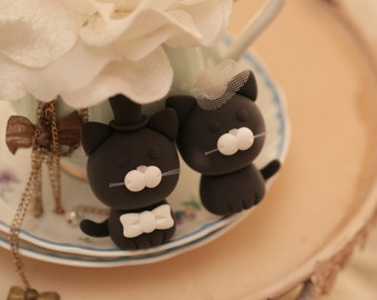 cat and kitty Wedding Cake Topper ---for the couple only---k825