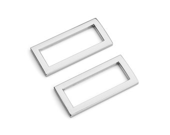 "30pcs - 1 1/4"" (32mm) Flat Zinc Square Ring - Nickel - (FSR-112) - Free Shipping"