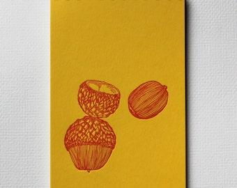 Acorn Notebook - Letterpress Spiral Bound Notebooks