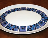 Reserved for Jimmylegs - Vintage Wyndham Casuals Platter One Two Purple Blue Geometric Mid Century - Japan