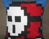 Shy Guy Quilted Pillow Cover - Free Shipping