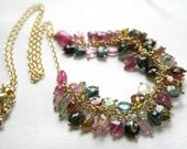 Layaway for Mee Tourmaline Necklace - Boho Chic Tourmaline Gemstone Necklace