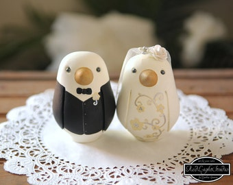 Wedding Cake Topper - Love Birds - Medium