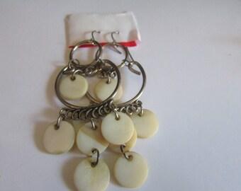 milky cascade earrings