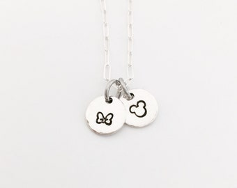 The Dainty Mice - sterling silver necklace