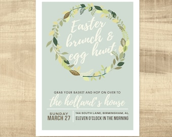 Easter Party Invitation Easter Card Template Easter Egg Hunt Egg Hunt Invitation Easter Invitations Easter Invite PRINTABLE DIY