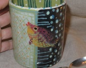 Wonderful Color And Pattern On Ceramic Fish Mug