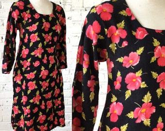 Vintage Floral print tunic, size XS
