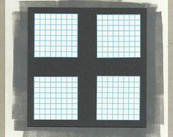 Original Geometric Abstraction Mixed Media