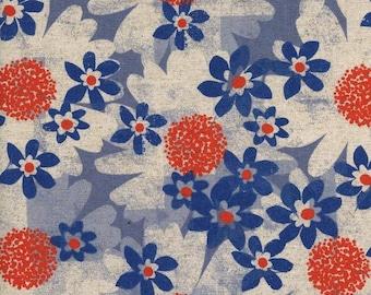 Daisy Fields Blue - Trinket - Cotton/Linen CANVAS - Melody Miller - Cotton + Steel - 0042-22 Sold By the Half Yard