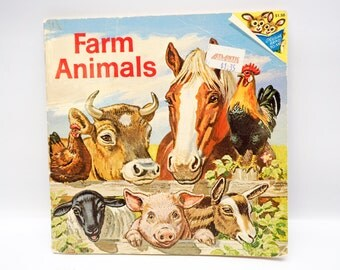 Farm Animals Book - 1978 - beautifully illustrated